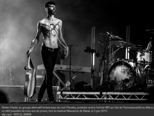 Stefan Olsdal, du groupe alternatif britannique de rock Placebo